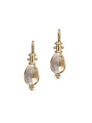 Temple St. Clair Classic Rock Crystal And 18K Yellow Gold Amulet Drop Earrings