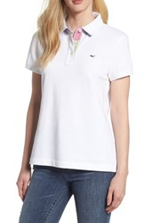 Vineyard Vines Heritage Patchwork Polo Shirt White Cap