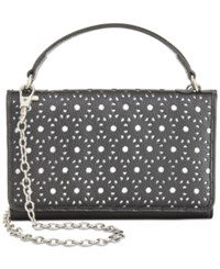 Giani Bernini Softy Perforated Wallet On A String Only At Macy's Black White