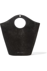Elizabeth And James Market Small Leather Suede Tote Black