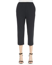 Eskandar Cropped Narrow Slit Cuff Trousers
