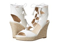 Guess Lamba White Leather Women's Wedge Shoes
