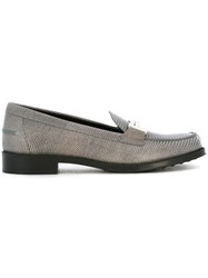 Tod's Double T Clamp Loafers Grey