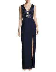 Basix Ii Black Label Evening Gown Navy