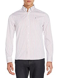 Victorinox Sellen Tailored Fit Striped Sportshirt Red Multi