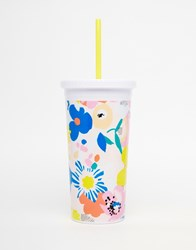Ban Do Ban. Do Floral Sip Sip Tumbler With Straw Multi