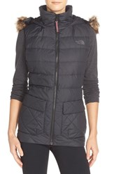 The North Face Women's 'Nitchie' Water Resistant Down Vest With Faux Fur Trim