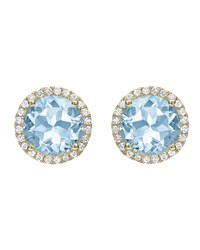 Kiki Mcdonough Grace Blue Topaz And Diamond Stud Earrings