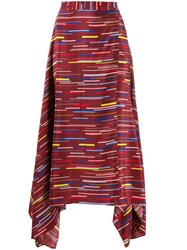 Chinti And Parker Stripe Print Skirt 60