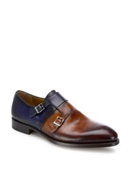 Saks Fifth Avenue Leather Double Monkstrap Loafers Multi