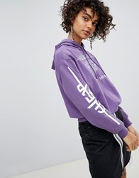 Cheap Monday Slogan Hoodie Purple