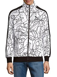 Puma Button Front Printed Jacket White