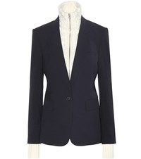 Veronica Beard Classic Dickey Virgin Wool Jacket Blue