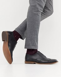 Office Interface Brogues In Black Leather
