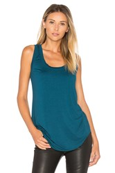 Three Dots Scoop Neck Tank Teal