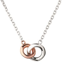 Links Of London Sterling Silver And Rose Gold 20 20 Double Ring Necklace