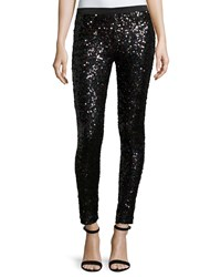 French Connection Cosmic Spark Long Leggings Black Holo