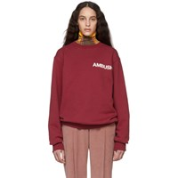 Ambush Ssense Exclusive Red Noho Sweatshirt