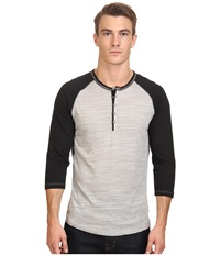 Howe Butta Cup Knit Henley November Sky Men's Long Sleeve Pullover Gray