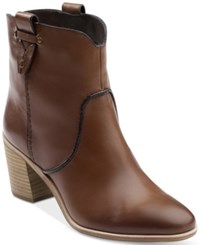 G.H. Bass And Co. Women's Sophia Block Heel Booties Women's Shoes Whiskey