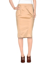 Gai Mattiolo Knee Length Skirts Beige