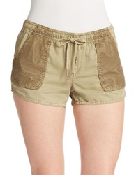 Dittos Mesh Inset Shorts Olive