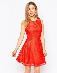 Love Lace City Dress Red