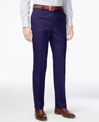 Louis Raphael Men's Slim Fit Wool Dress Pants Navy