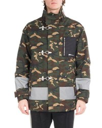 Palm Angels Camouflage Fireman Utility Jacket Green