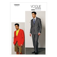 Vogue 'S Jacket Shorts And Trousers Sewing Pattern 8890