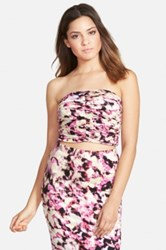 Leith Print Ruched Floral Tube Top Juniors Multi