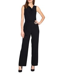 Tahari By Arthur S. Levine Belted Jumpsuit Black