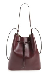 Lodis Silicon Valley Large Halina Leather Bucket Bag Burgundy Chianti Taupe
