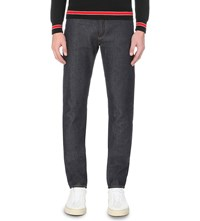 Givenchy 3 Star Regular Fit Straight Jeans Navy