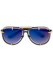 Frency And Mercury Cheetah Sunglasses Black