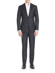 Pal Zileri Two Button Wool Suit Charcoal