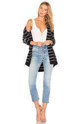 Vince Stripe Cardigan Blue
