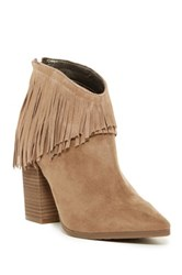 Kenneth Cole Reaction Pull Ashore Fringe Ankle Boot Brown