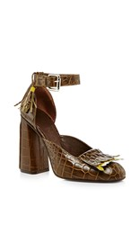 Suno Fringe High Heel Brown