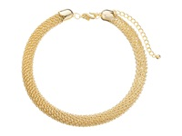 Kenneth Jay Lane Gold Tone Woven Tube Collar Necklace Gold Necklace