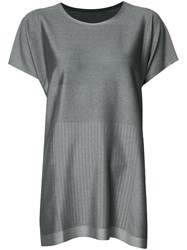 Issey Miyake Pleats Please By T Shirt Dress Grey