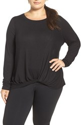 Zella Plus Size Women's 'Twisty Turn' Long Sleeve Tee