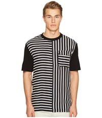 Mcq By Alexander Mcqueen Striped River Tee Black White Men's T Shirt