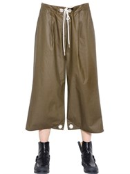 Maison Martin Margiela Coated Cotton Canvas Pants