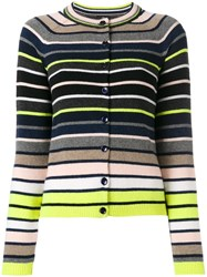 Paul Smith Ps By Striped Knit Cardigan