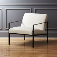 Cb2 Cue Chair With Black Legs