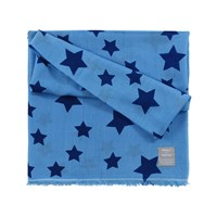 Orwell Austen Cashmere Oversized Star Scarf Light Blue And Navy
