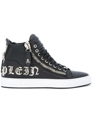 Philipp Plein Amazing Hi Top Sneakers Men Calf Leather Leather Rubber 42 Black