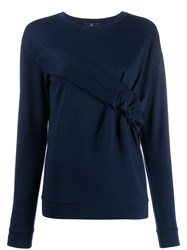 Fay Ruched Panel Jumper Blue