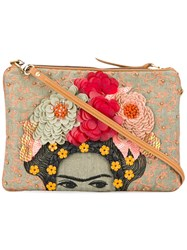 Jamin Puech Embellished Clutch Women Cotton Linen Flax One Size
